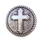 rope cross silver plate