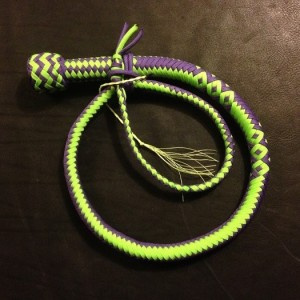 green purple whip