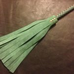 heavy medium flogger green suede