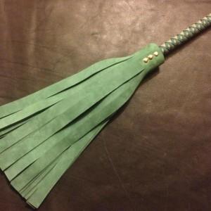 heavy medium flogger green suede