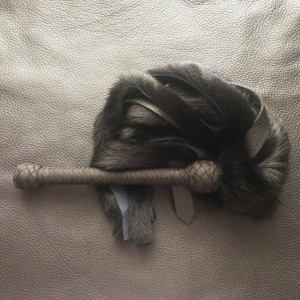 leather and fur flogger