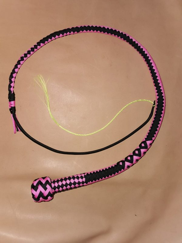 2 foot pink and black snakewhip